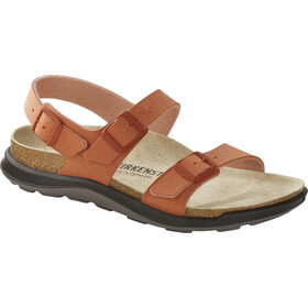 Birkenstock Sonora Crosstown Sandals Birko-Flor Birkibuc Narrow Women, faded brick